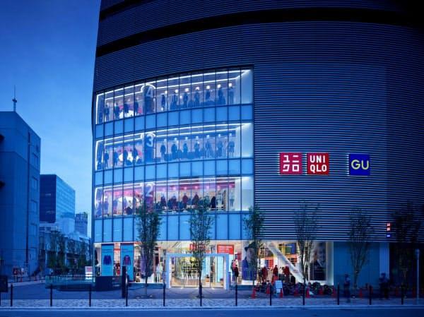 7日から営業再開した店舗も出始めた(グローバル旗艦店の「ユニクロ OSAKA」)