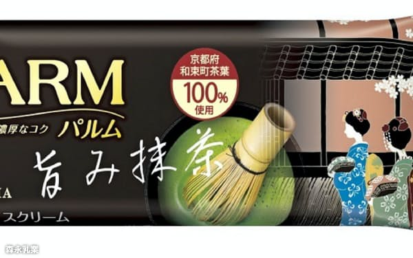 森永乳業が発売する「PARM(パルム)旨み抹茶」