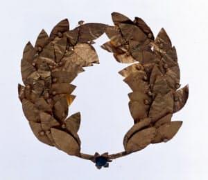 金製月桂冠(ギリシャ、紀元前4世紀頃)=天理参考館提供