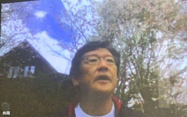 7日、オンライン取材に応じる日本ハムの栗山監督=共同
