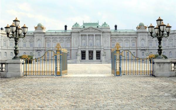 ベルサイユ宮殿などを参考に建設した