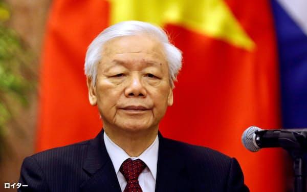 グエン・フー・チョン共産党書記長は国家主席も兼務する=ロイター