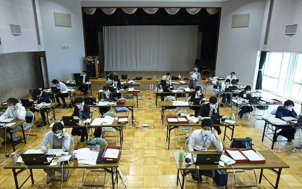 江戸川区役所が開設した特別定額給付金の電話相談窓口(8日)