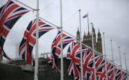 日英のEPA交渉が始まる(英国国旗が掲げられる英国会議事堂付近)
