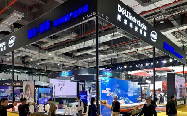 デル・テクノロジーズなど米国企業の中国事業に影響が出る可能性もある(19年11月、上海市)