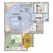 食事と睡眠、働く空間が調和したデザインにする(物件の間取りイメージ)