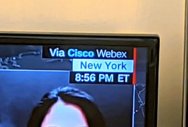 シスコシステムズのビデオ会議システム「Webex」はテレビ番組の中継などでも利用が広がっている。