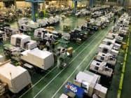 コロナ禍が工作機械の受注に大きな影響を与えている