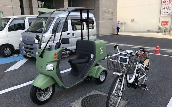飲食店などが宅配事業を導入できるよう、シェア自転車や原付きバイクを無償提供する