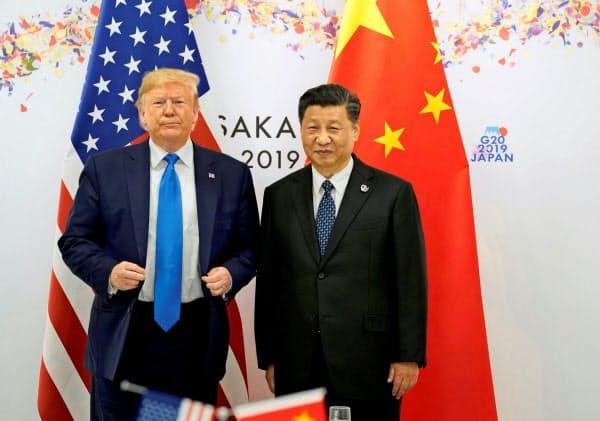 トランプ米大統領は中国への強硬姿勢をアピールしている=ロイター