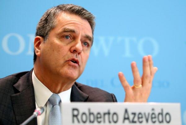 WTOのアゼベド事務局長=ロイター