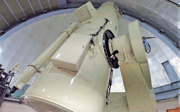 動画カメラを設置したシュミット望遠鏡