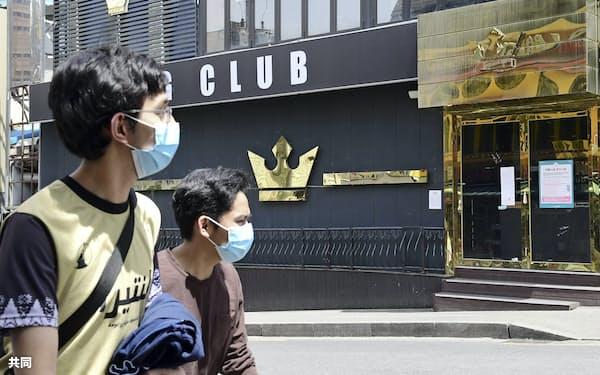 感染者の訪問が判明し、一時閉鎖されたクラブ(8日、ソウル)=共同