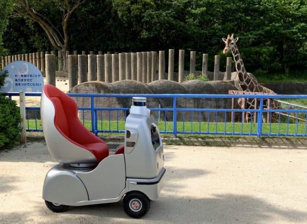 オンライン動物園に向けた自走ロボの試験走行(15日)