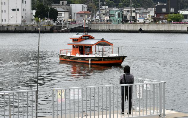 ポンポン船の愛称で親しまれている渡し船(神奈川県横須賀市)