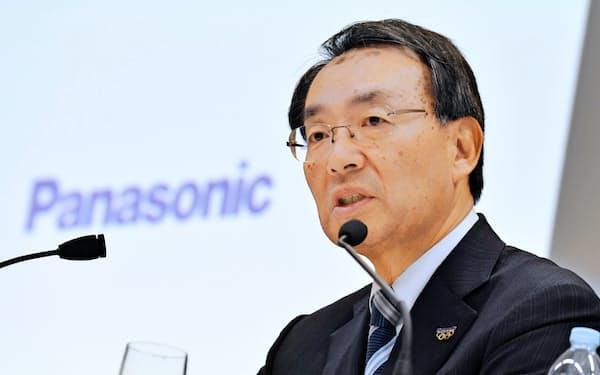 津賀社長率いるパナソニックは成長の柱になる事業をなお模索している(19年11月、東京・港)