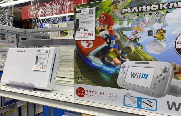 WiiUなどの中古ゲームの価格が上昇している(都内の中古ショップ)