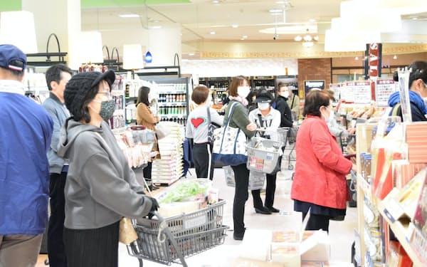 高級スーパー「フランテ」の売上高は急伸している(名古屋市千種区)