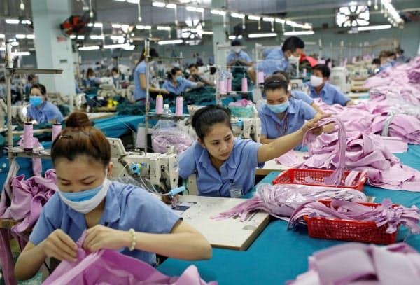 ベトナムの主力産業の縫製業はEUとのFTAで恩恵を受けそうだ(ホーチミン市)=ロイター