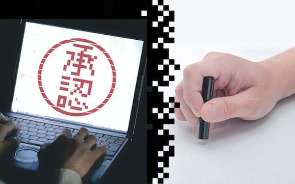政府と経済団体はメールや書類の電子化、電子署名などで代用でき、必ずしも押印や対面での手続きが必要ない作業が残っているとみる