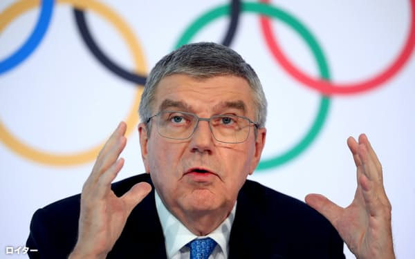 IOCのバッハ会長=ロイター