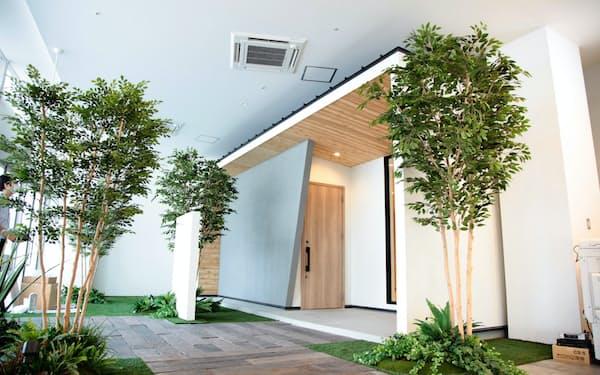 イオンモール福岡に出店するリブワークのモデルハウス(福岡県粕屋町)