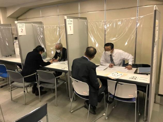 札幌中小企業支援センターには多くの経営者が資金繰り相談に訪れる(19日、札幌市)