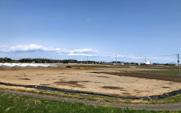 広大な土地で農業団地の整備計画が進む(埼玉県羽生市)