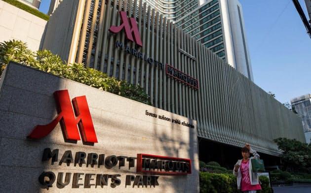 マリオットは世界で7400軒以上のホテルを展開する(タイのバンコク)