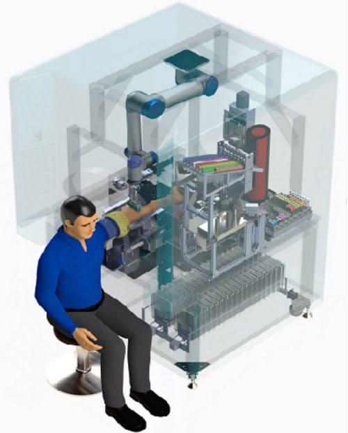 磅客策の全自動採血ロボットのイメージ(同社提供)