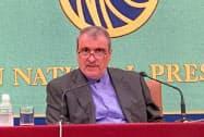 イランのラフマーニ駐日大使(2019年6月、都内の日本記者クラブ)