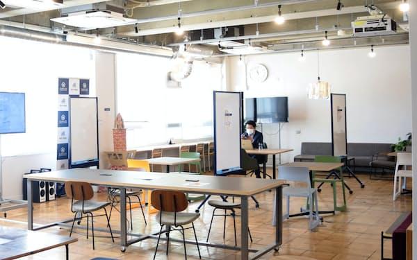 「なごのキャンパス」ではコワーキングスペースの利用者が減っている(名古屋市)
