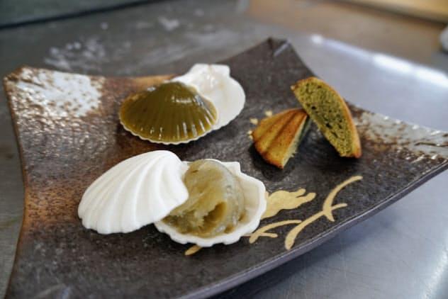 静岡県森町の小沢製茶のお茶を使ったきのした菓子舗(北海道森町)のお菓子