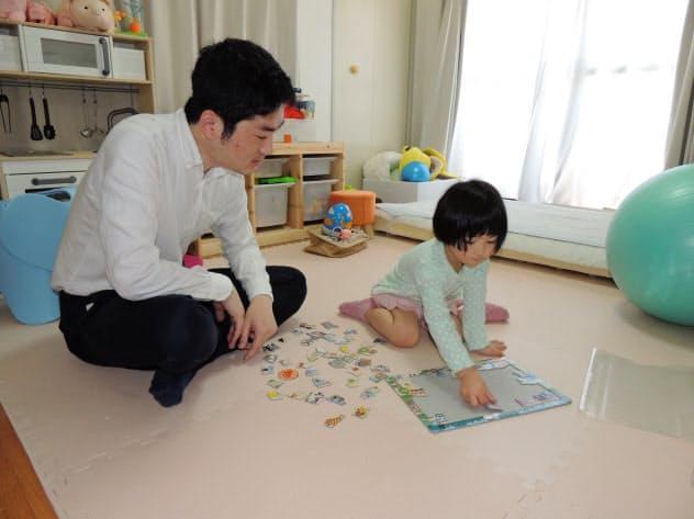 時間単位の有休をとって長女と遊ぶ大野さん