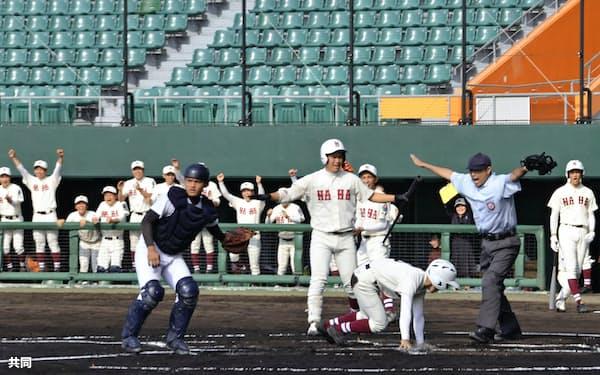 今年の高校野球春季地方大会は沖縄県だけで開催されたが、それも途中で打ち切りとなった=共同