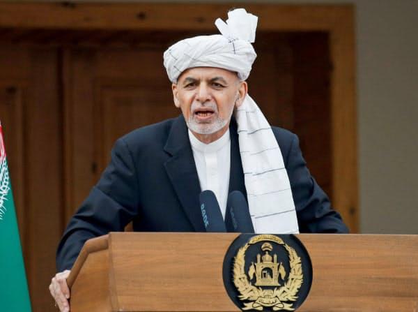 アフガニスタンのガニ大統領=ロイター