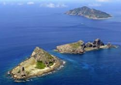 中国公船が尖閣諸島周辺の領海へ侵入を繰り返している(写真は2012年9月)=共同
