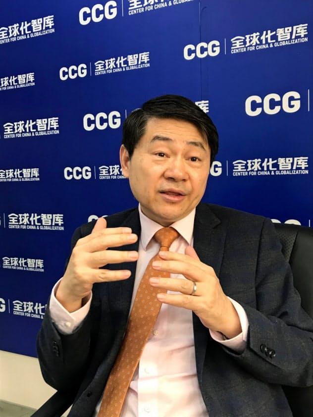 ワン・フイヤオ 中国国務院参事。民間シンクタンク、全球化智庫の理事長も務める。61歳(写真は2020年1月撮影)
