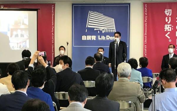 自民党が開いた9月入学に関するワーキングチームの会合(25日、自民党本部)