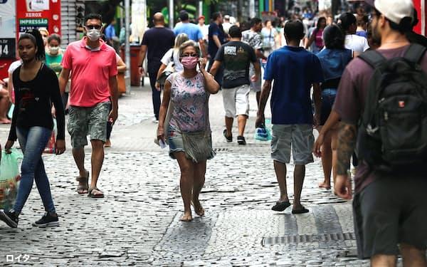 ブラジルは世界で2番目に感染者が多い(リオデジャネイロ)=ロイター