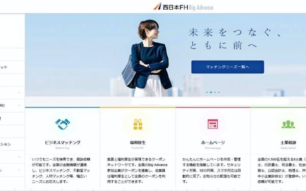 西日本シティ銀行が導入する取引先向けウェブサービスの画面イメージ