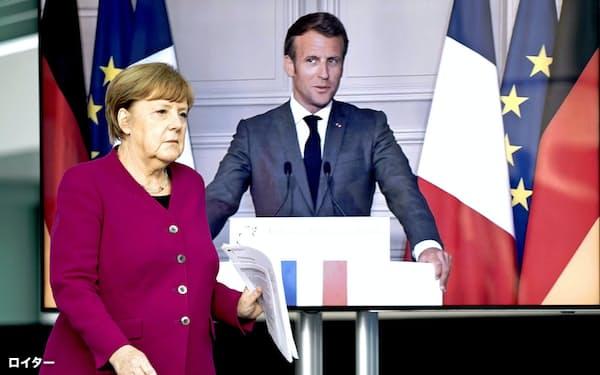 メルケル氏(左)はコロナ復興のため、欧州の共通債務を認める=ロイター