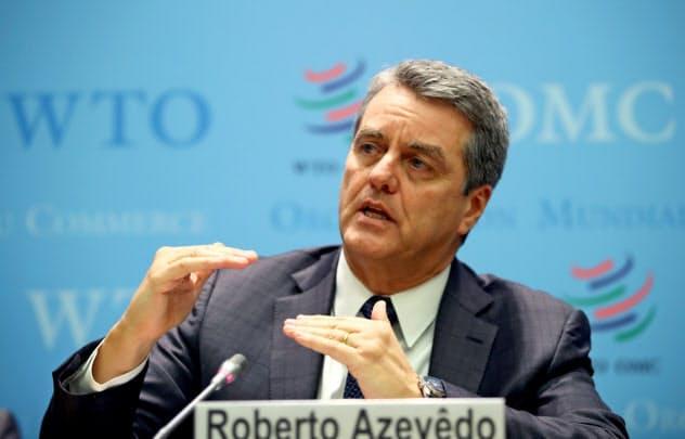 WTOのアゼベド事務局長の任期は2021年8月末までだった=ロイター