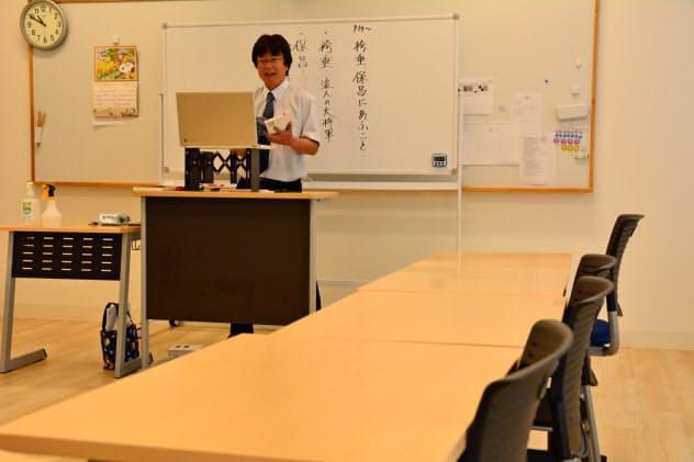 オンラインで授業をする高校