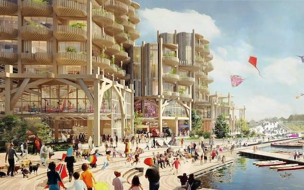 トロント市で計画されていたスマートシティーのイメージ図(サイドウォーク・ラボ提供)
