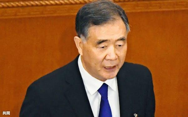 汪洋(ワン・ヤン)全国政治協商会議主席(5月21日、人民大会堂)=共同