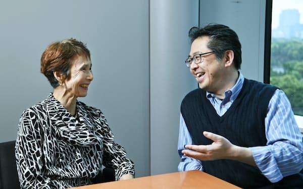 経営学者の石倉洋子氏(左)とヤフーの安宅和人CSO