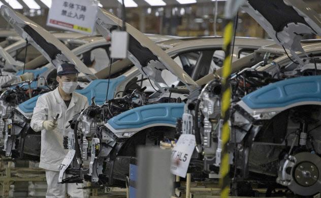 ホンダは3月末に湖北省武漢市の工場で生産を再開。中国市場は急回復している=AP