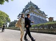 1日限定でプレオープンした名古屋城。来場者は少なく閑散としていた(29日午前、名古屋市)=共同
