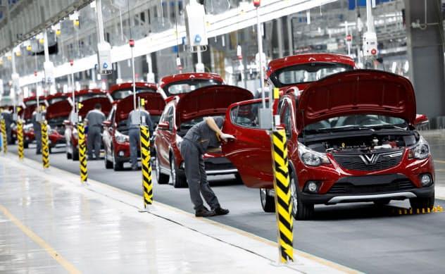 ビングループは2019年から自動車の生産を開始している(ハイフォン市)=ロイター